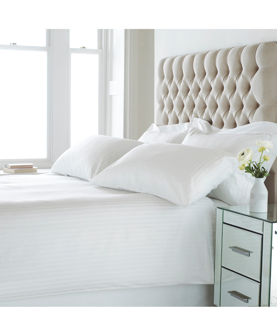 Eton white cotton s.king duvet set Sale - riva paoletti
