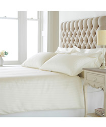 Eton cream cotton double duvet set