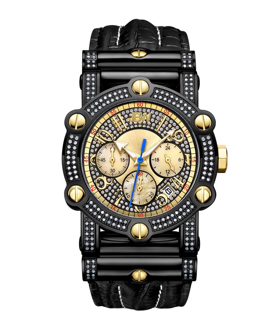 Phantom black steel & diamond watch Sale - jbw