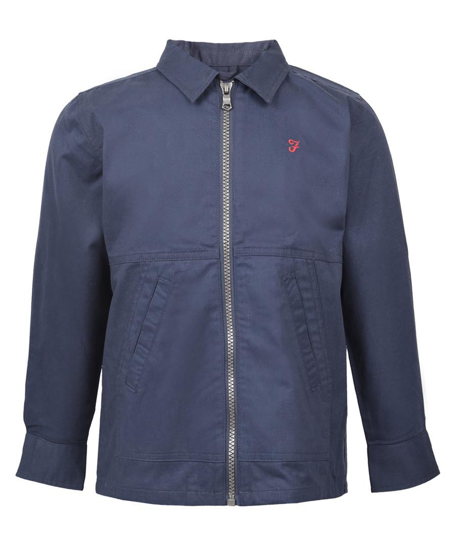 Boys' navy cotton zip-up shirt Sale - FARAH