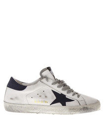 White star detail lace-up sneakers