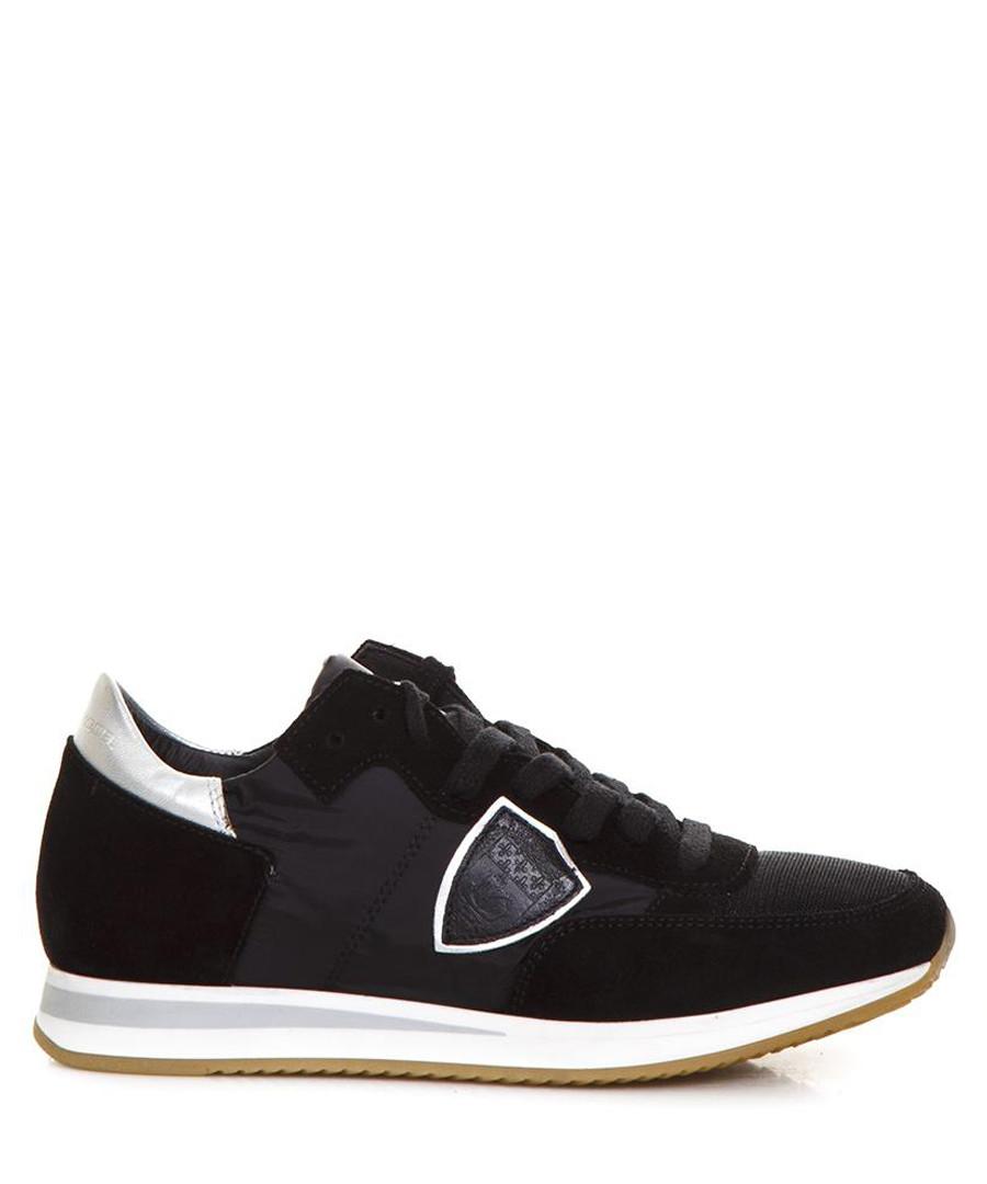 Black & silver suede sneakers Sale - PHILIPPE MODEL