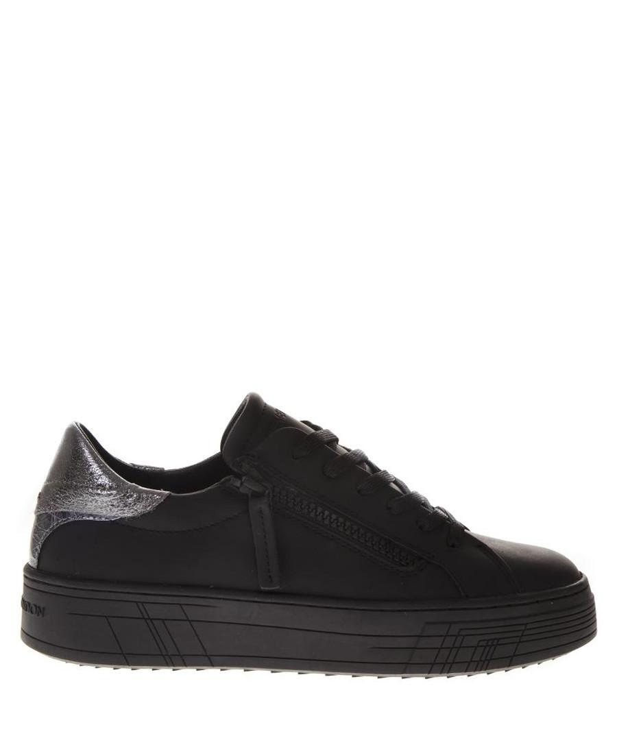 Krazy black leather sneakers Sale - crime london