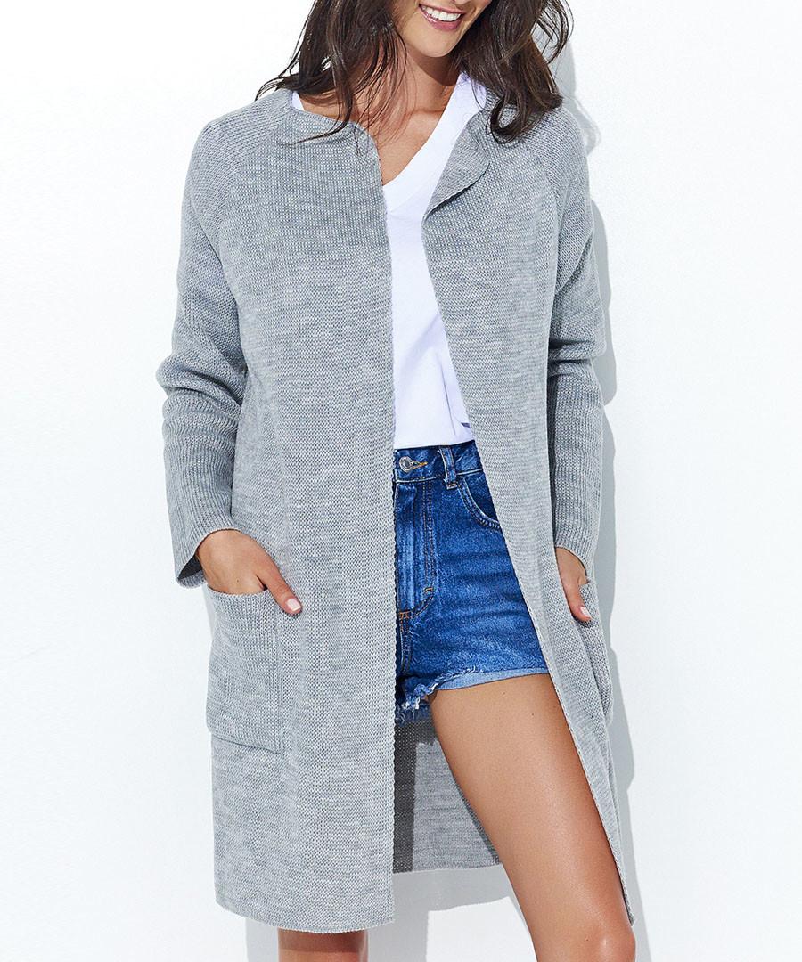 Grey longline cardigan Sale - numinou