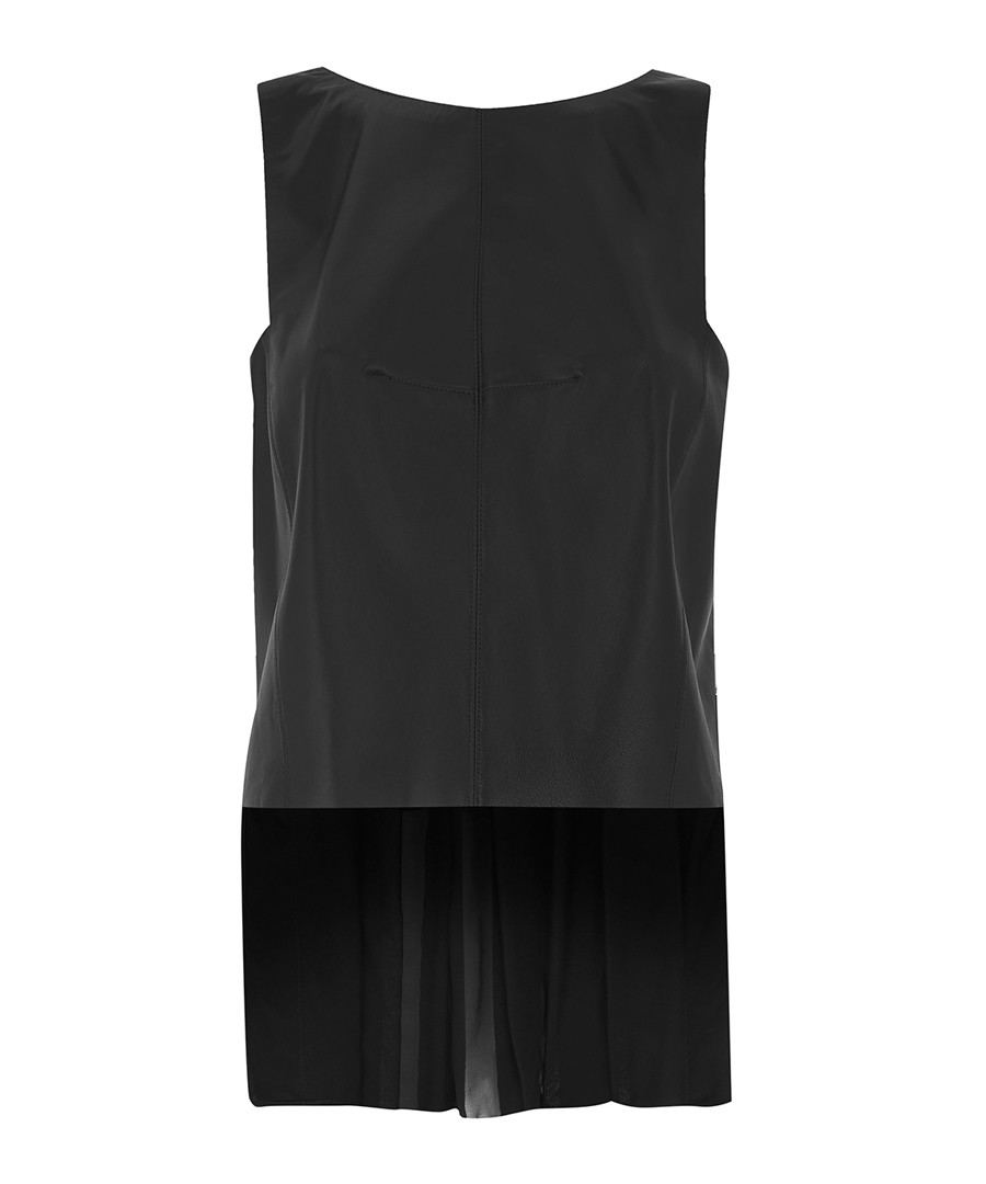 Black pure silk sleeveless blouse Sale - amanda wakeley