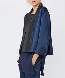Midnight & black panel jacket