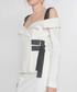 Ecru cold-shoulder blouse Sale - Amanda Wakeley Sale