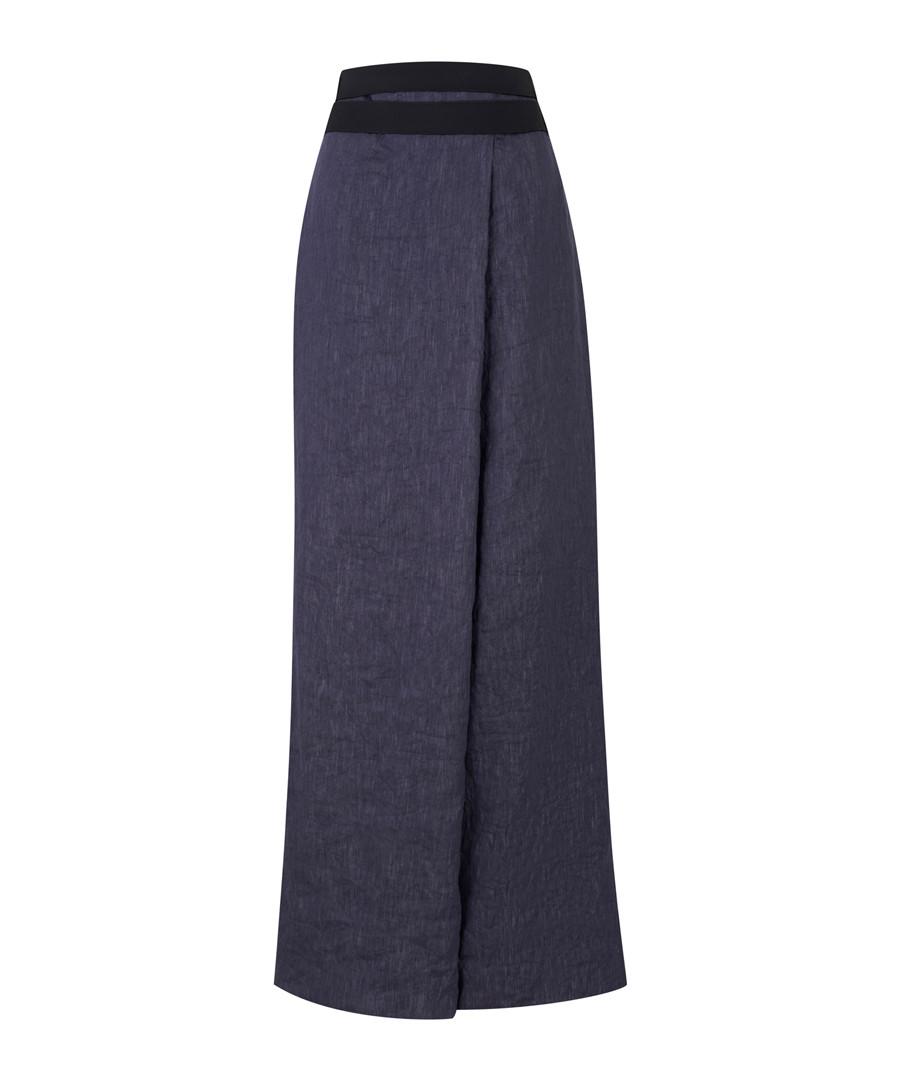 Dark blue wrap trousers Sale - Amanda Wakeley