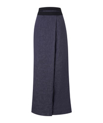 Dark blue wrap trousers