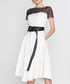 White & black short sleeve dress Sale - amanda wakeley Sale