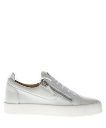 White leather & suede sneakers