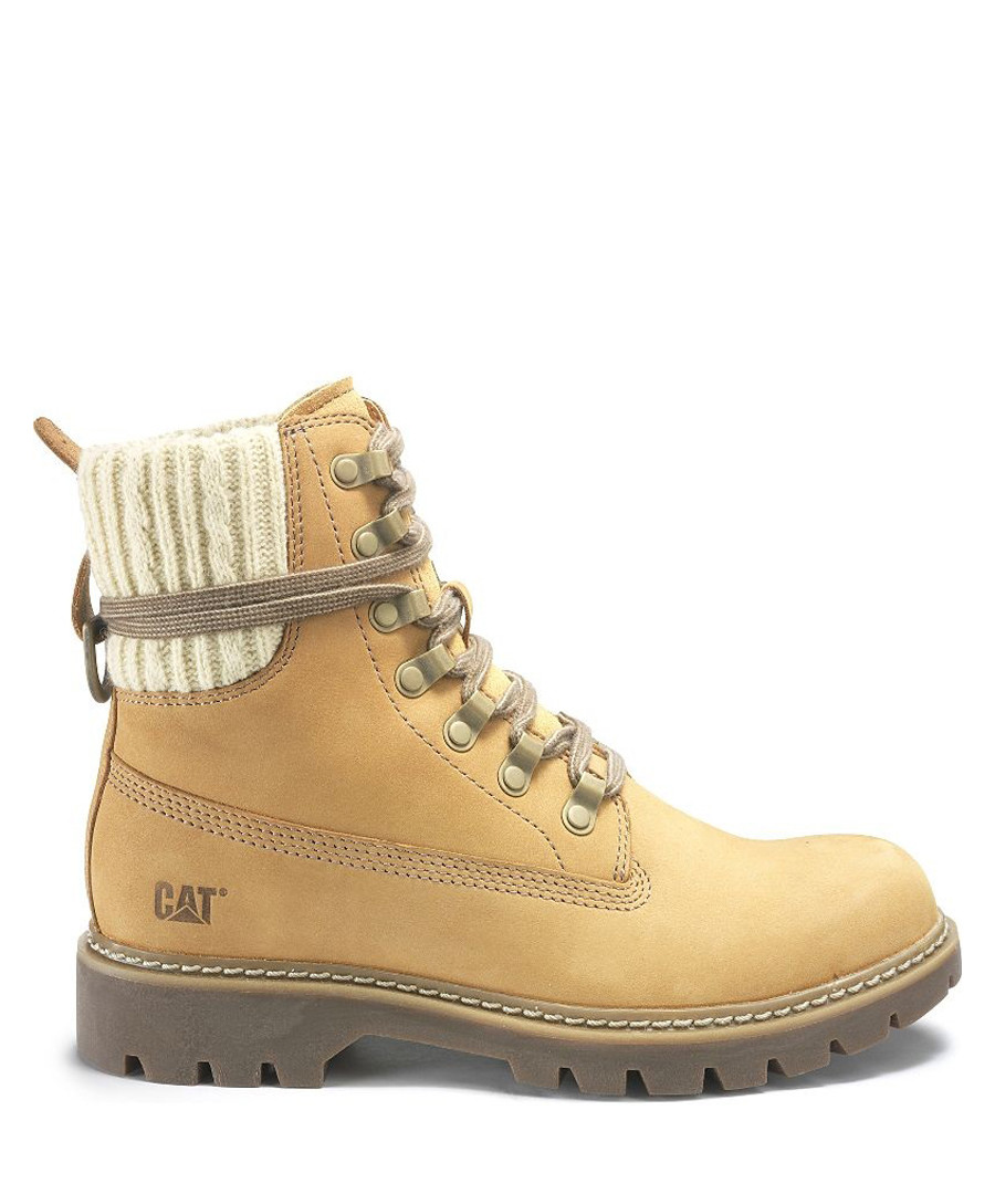Women s Honey Leather Lace Up Boots by Cat 49c47513ff
