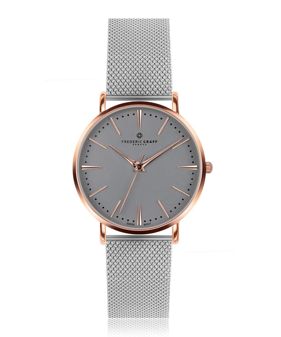 Eiger silver-tone mesh watch Sale - frederic graff
