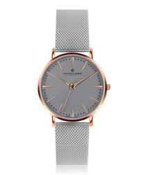 Eiger silver-tone mesh watch