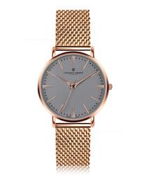 Eiger rose gold-tone mesh watch