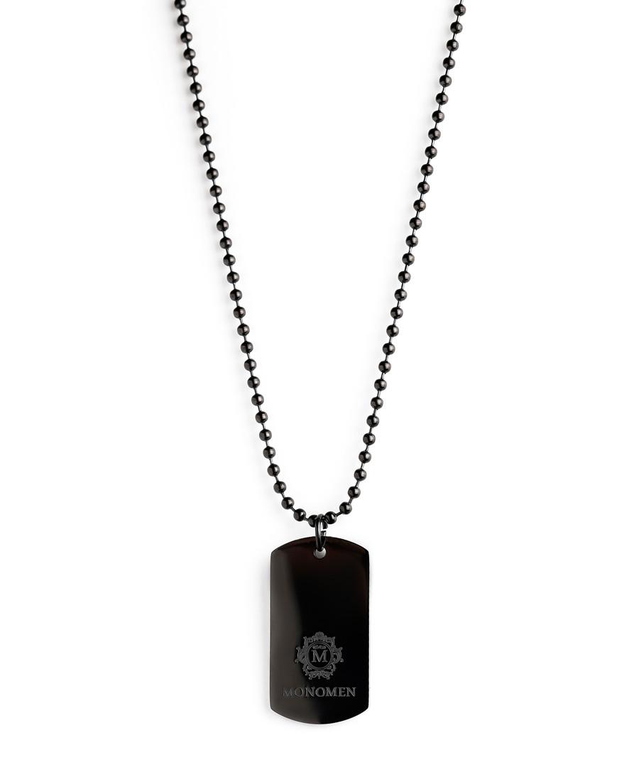 Black dog tag necklace Sale - monomen