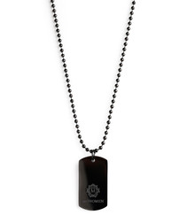 Black dog tag necklace