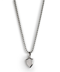 Silver-tone dog tag necklace