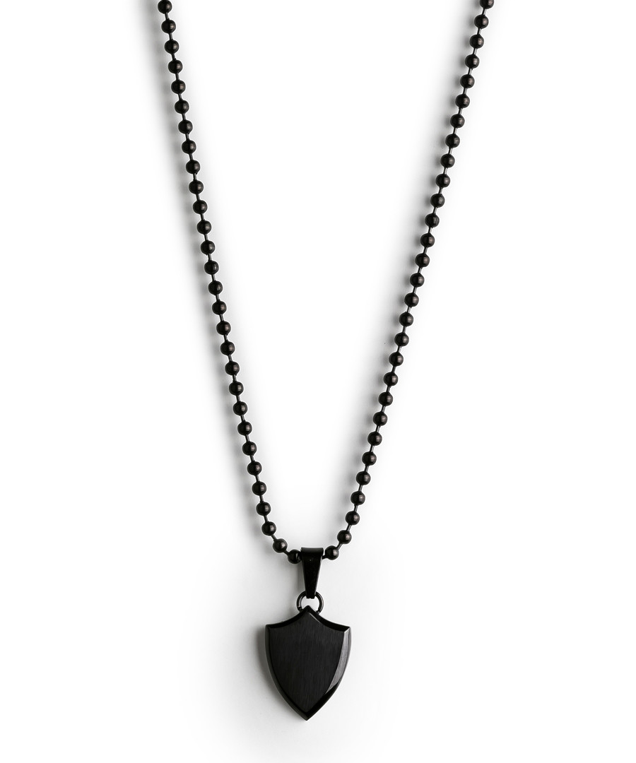 Black dog tag necklace Sale - monomen