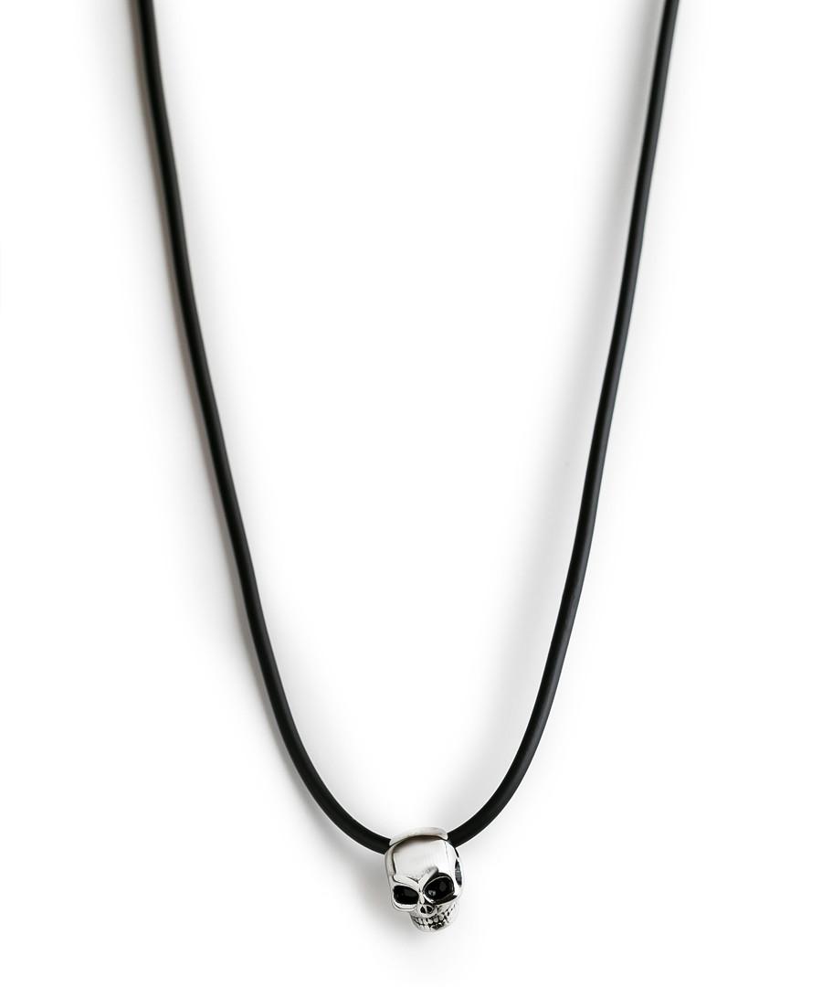 Black & silver-tone steel skull necklace Sale - monomen