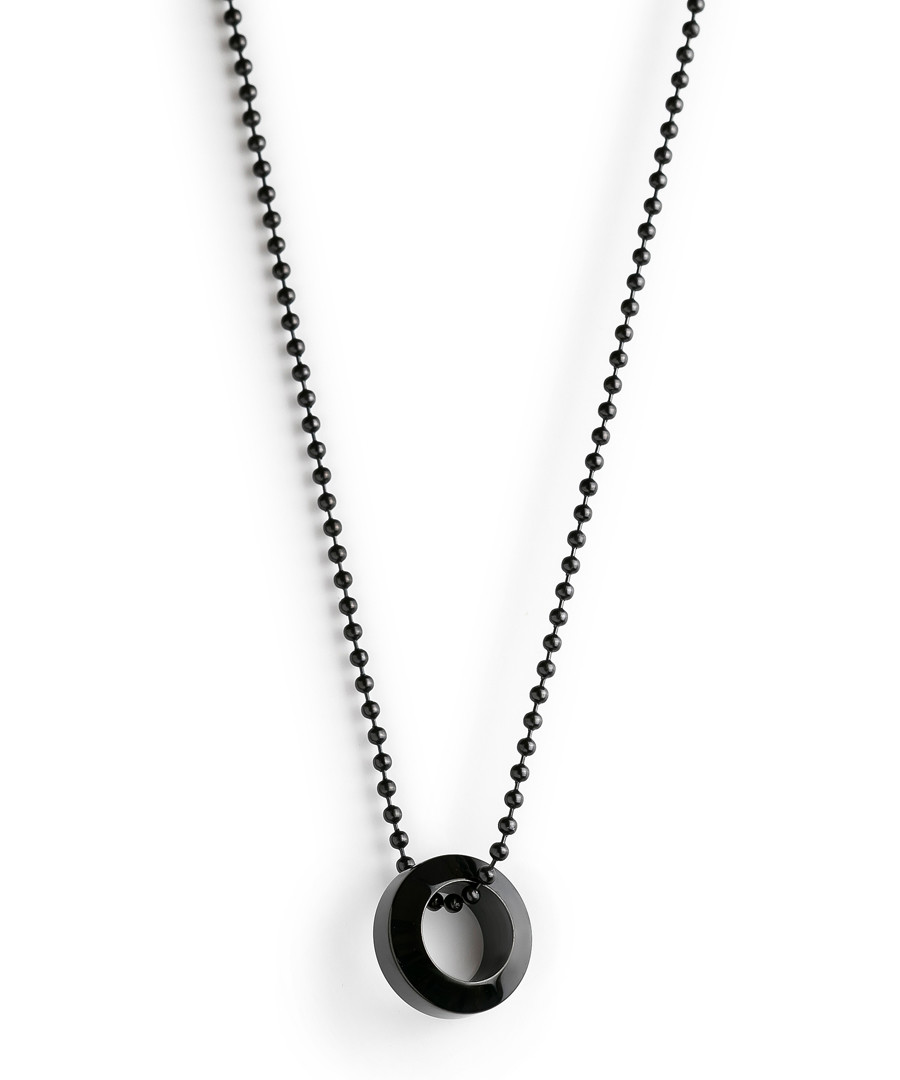 Black steel ring pendant Sale - monomen