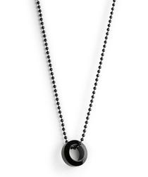 Black steel ring pendant