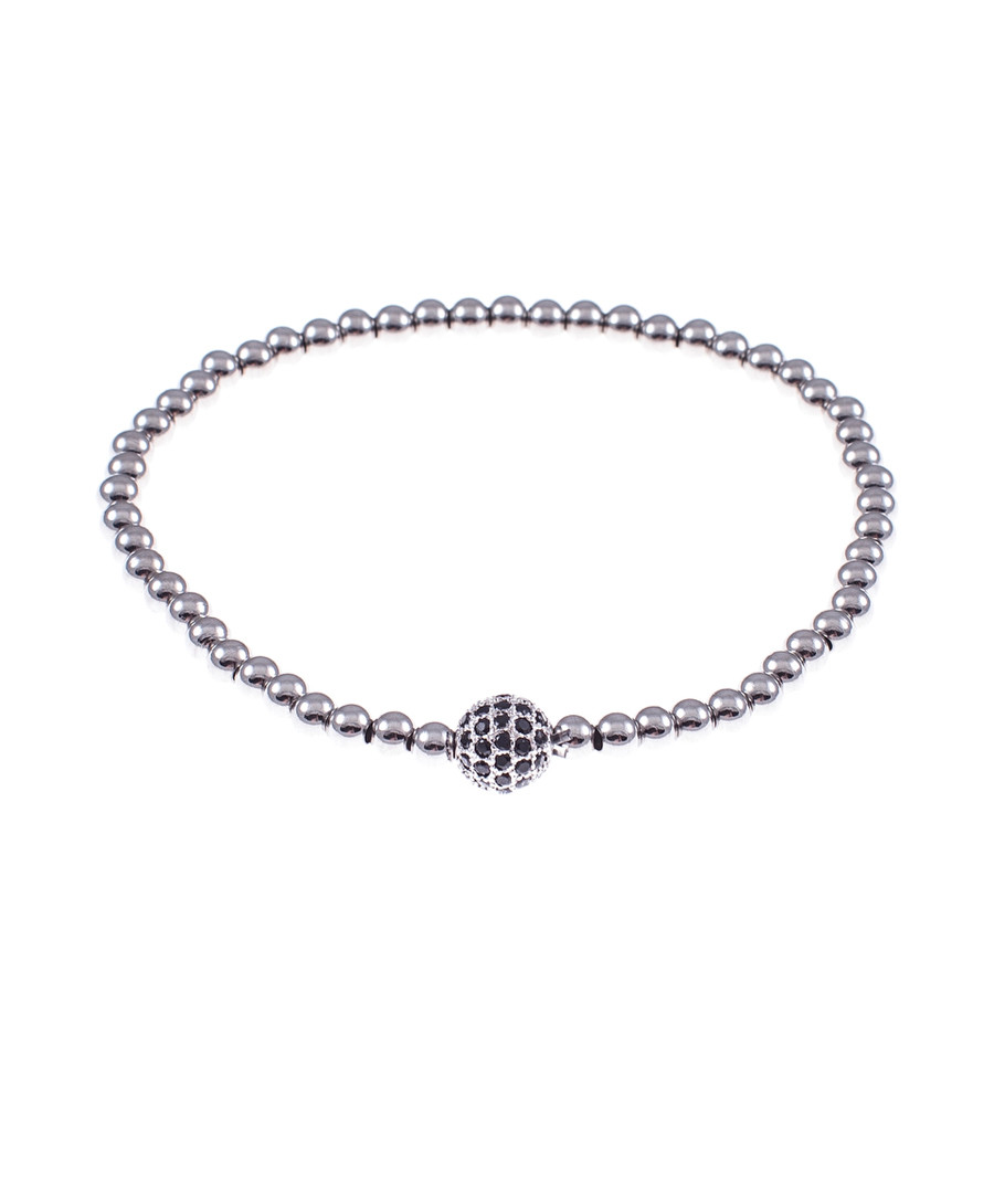 Silver-tone steel ball bracelet Sale - monomen