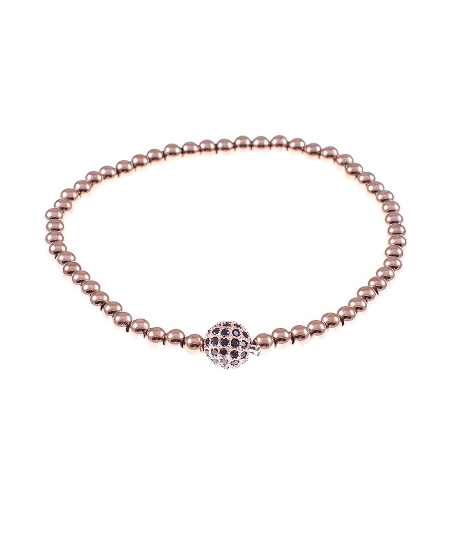 Rose gold-tone steel ball bracelet Sale - monomen