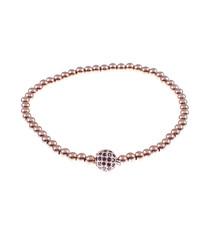 Rose gold-tone steel ball bracelet