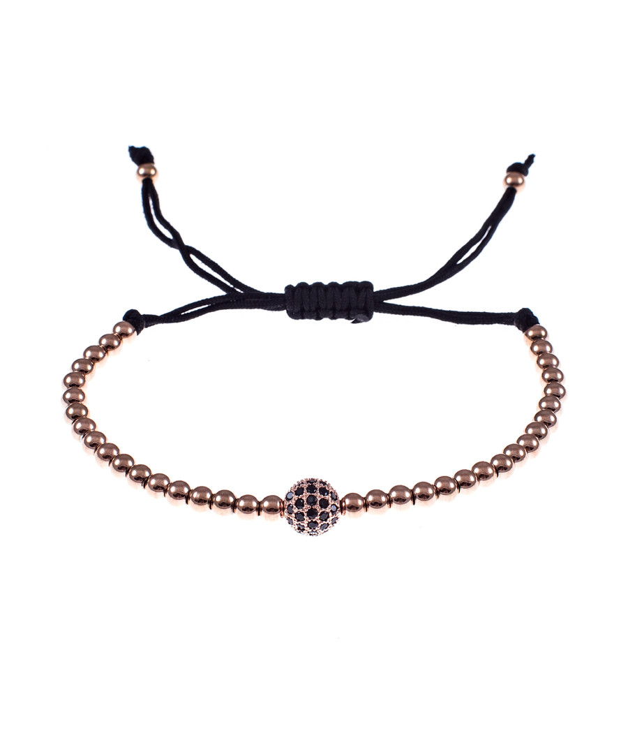 Rose gold-tone steel tie ball bracelet Sale - monomen