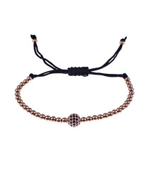 Rose gold-tone steel tie ball bracelet