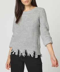 Grey mohair & cashmere jumper