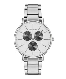 Silver-tone stainless steel quartz watch