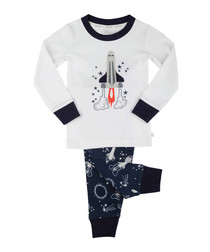 2pc multi-colour rocket pyjama set