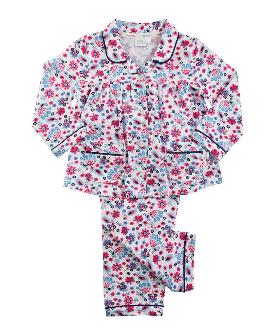 2pc floral print cotton pyjama set Sale - Mini Vanilla