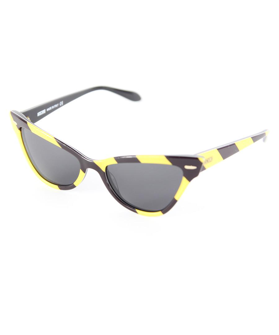 Yellow & black stripe sunglasses Sale - moschino