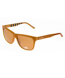 Orange flat top sunglasses