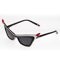 Black & cream pointed sunglasses