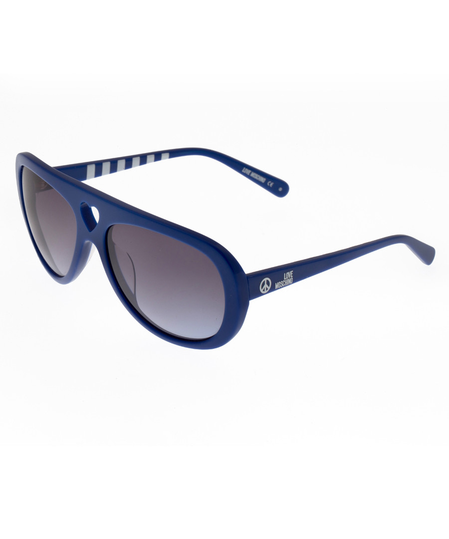 Blue & brown aviator sunglasses Sale - moschino love