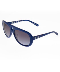 Blue & brown aviator sunglasses