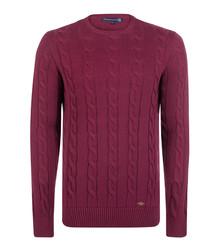 Dark purple cotton ribbed jumper