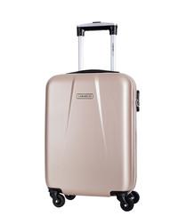 Gabriola beige spinner suitcase 46cm