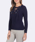 Navy criss-cross jumper Sale - giorgio di mare Sale