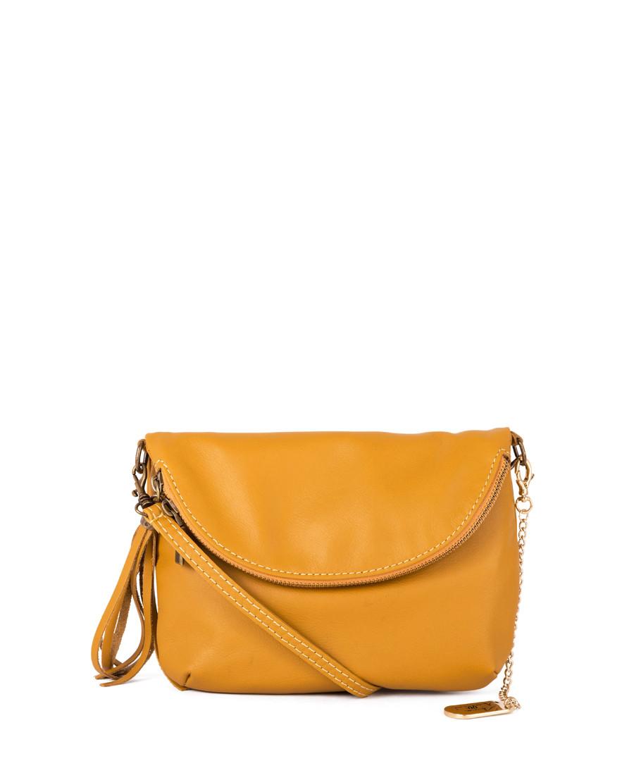 Alice yellow leather zip-up crossbody Sale - anna morellini