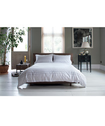 Alizee white cotton single duvet set