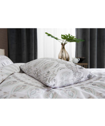 Angel white cotton king duvet set