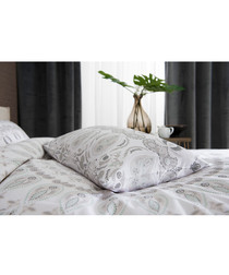 Angel white cotton single duvet set