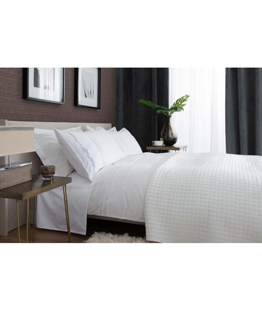 Ashanti white cotton double duvet set Sale - lyndon