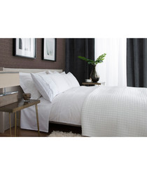 Ashanti white cotton double duvet set