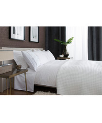 Ashanti white cotton king duvet set